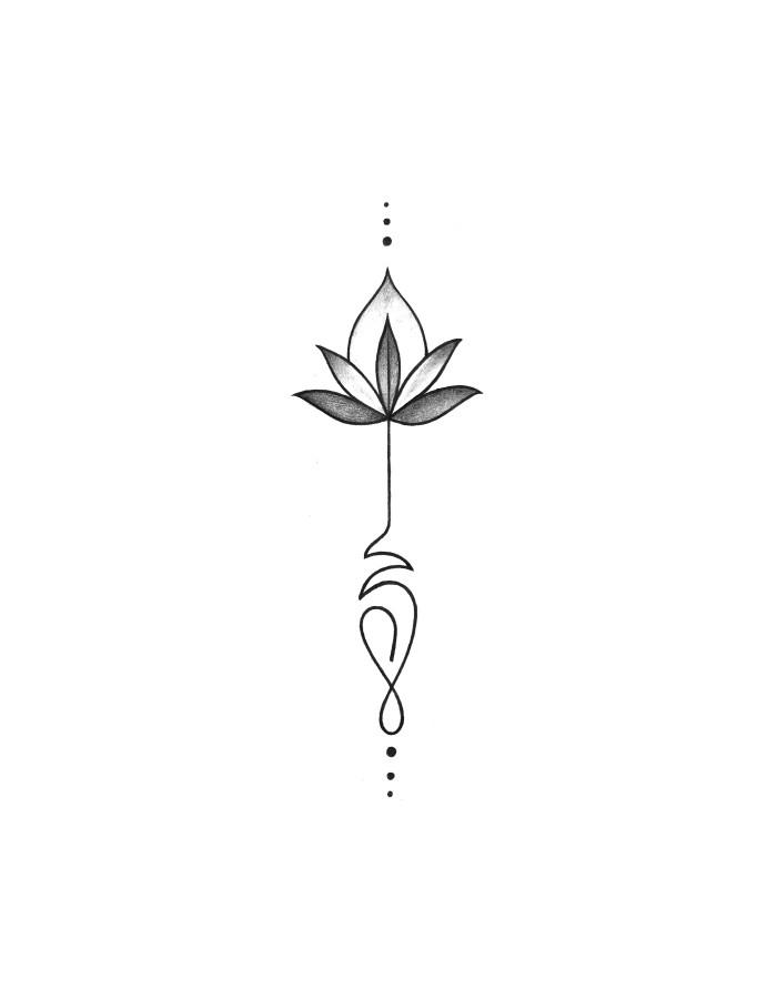 Tatouage fleche fleur de lotus tattoo art - Fleur de lotus tatouage ...