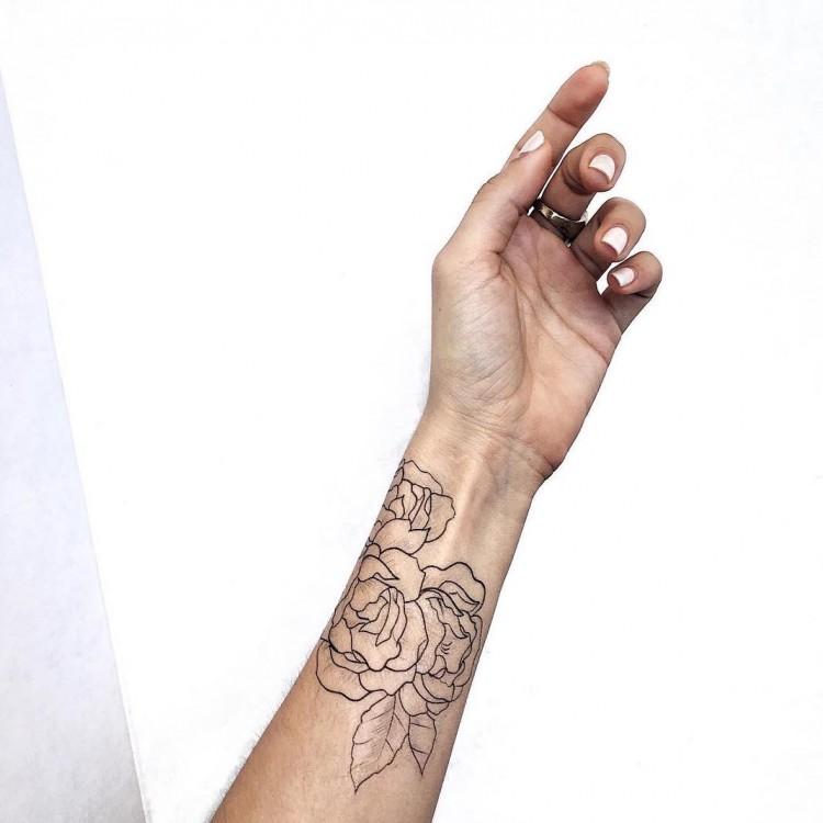 Tatouage temporaire de rose for Custom temporary tattoos no minimum