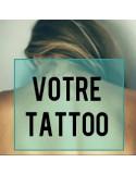 tatouage éphémère personnalisé nuque