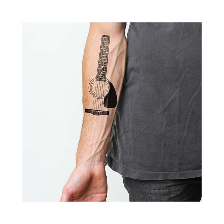 tatouage temporaire musique partition cl de sol guitare tatouage temporaire personnalis. Black Bedroom Furniture Sets. Home Design Ideas