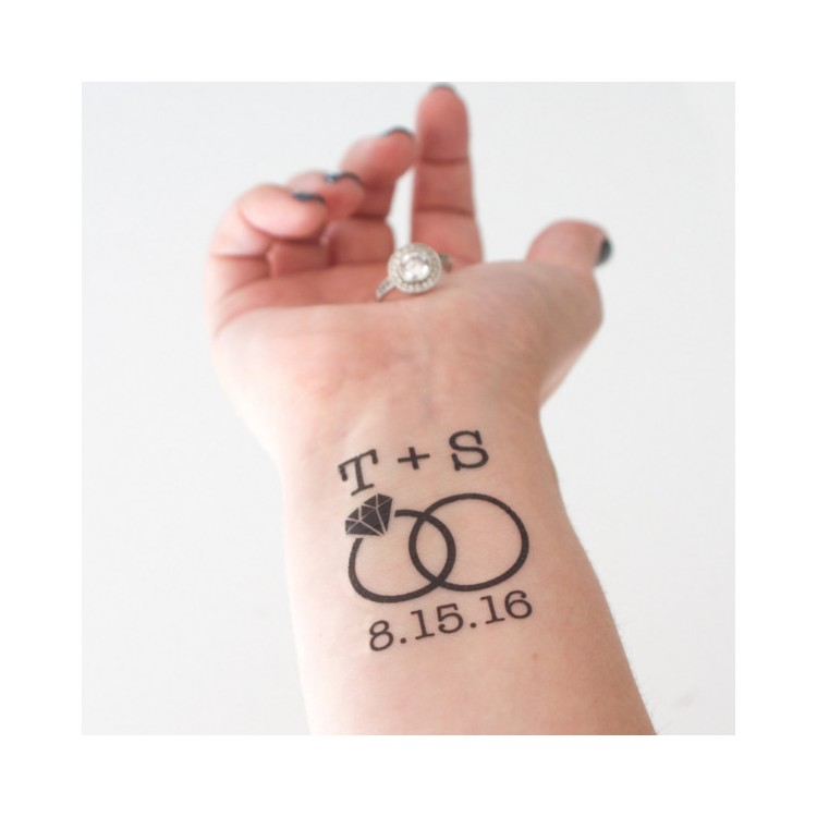 personnalisez votre tatouage temporaire pour votre mariage
