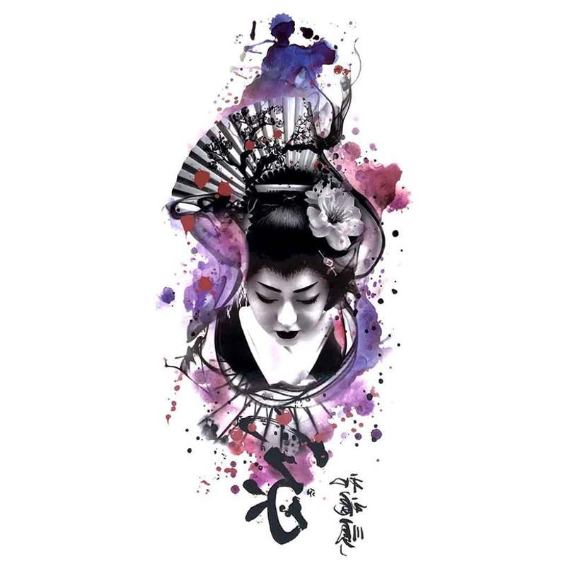 tatouage temporaire asiatique