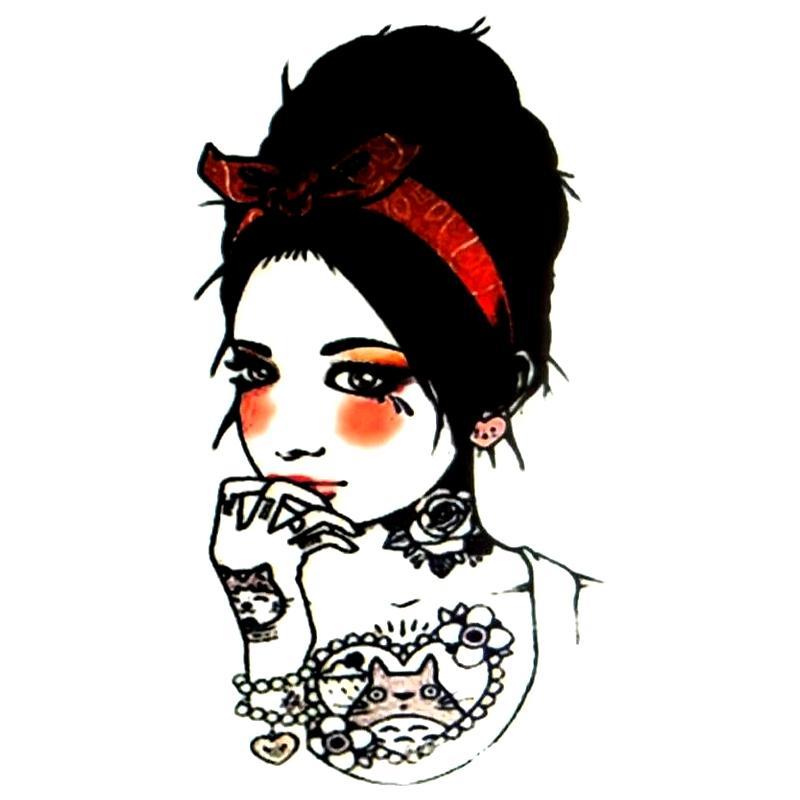 tatouage temporaire girls vintage