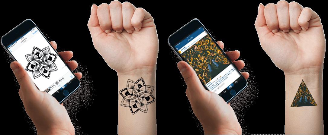 tatouage temporaire personnalisé à l'unité - tatouage éphémère